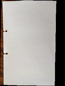 溝付き穴を施した用紙